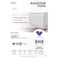 Radiateur en fonte avec détecteur fenêtre ouverte (1000W) - Blanc