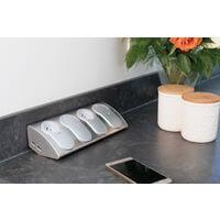 Bloc multiprise cuisine à câbler 4 prises + 2 USB parafoudre - Otio