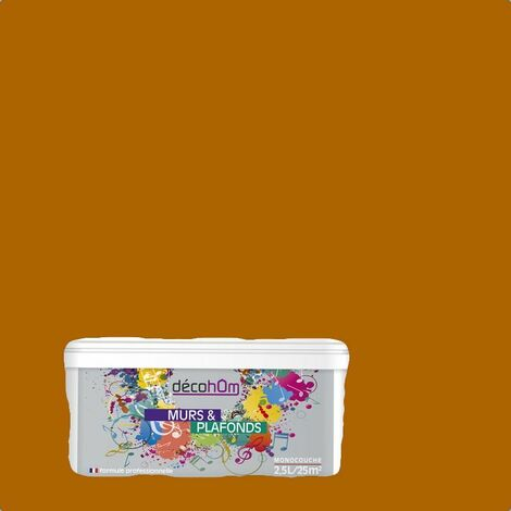 Peinture murale Rock Tangerine DECOHOM S 3065-Y20R | 2.5L - Satin