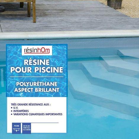 Résine polyuréthane spécial piscine 5 litres pour +/- 50M2 pour une couche   5L - SABLE RAL 1013 - SABLE RAL 1013