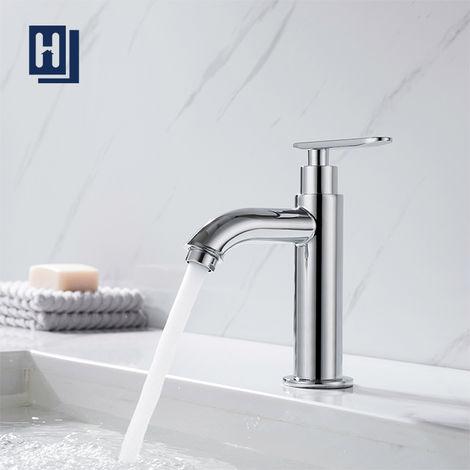 Grifo para lavado a mano de agua fría Grifo para baño de cromo Monomando