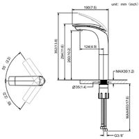 Grifos de Lavabo Alto Grifería de Baño Grifos para Fregadero Monomando Grifo de Mezclador Agua Caliente y Frío Blanco/Plateado