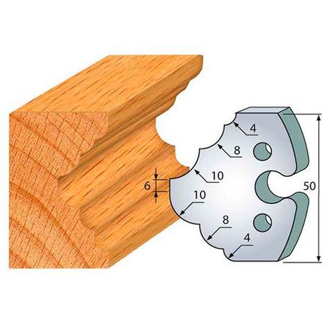 Jeu de 2 fers profilés acier Ht. 50 mm N°275 1/4 de rond et congé 4-8 et 10 mm - 855.275 - Leman