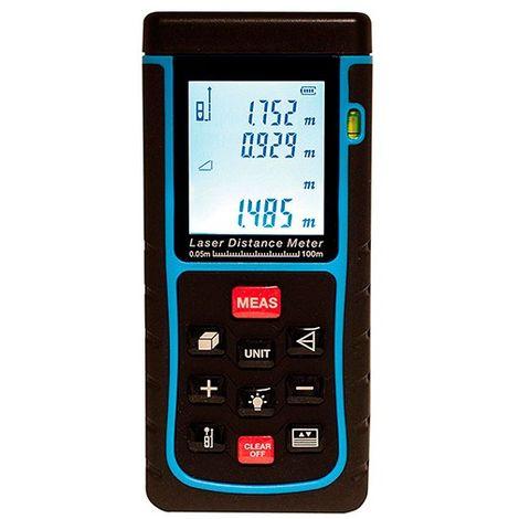 Lasermètre (télémètre) 100 Mètres plus ou moins 2mm plus Pythagore - G30210 - D-Work - -
