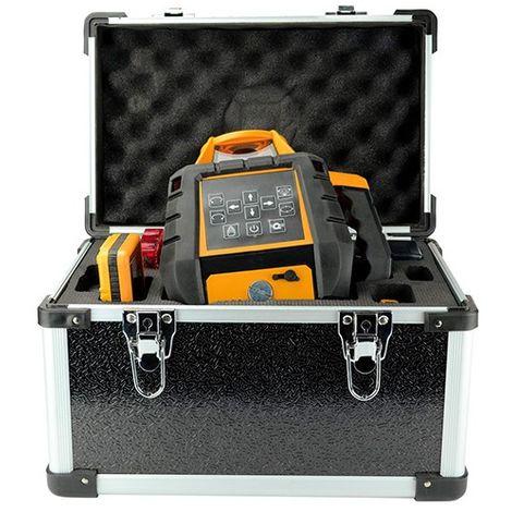 Niveau laser automatique de pente 9 % antichoc plus recepteur plus télécommande - S15017 - D-Work