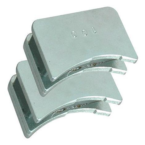 Jeu de 2 positionneurs magnétiques de fers pour D. 125 mm - 380.700.125 - Leman
