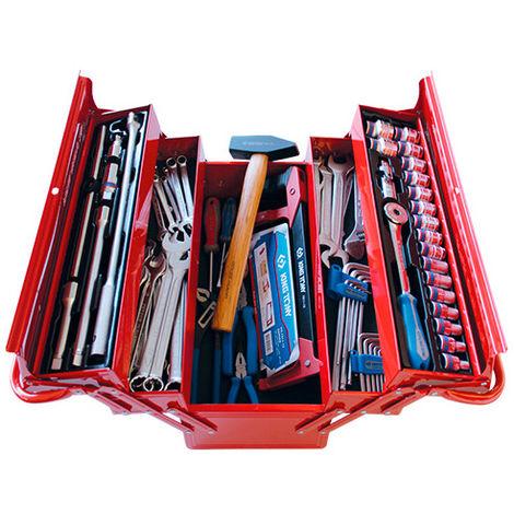 Caisse à outils complète - 77 pièces - 220 x 260 x 470 mm