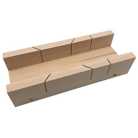 Boîte de coupe à onglet 45 et 90° de L. 250 x l. 100 x ht. 55 mm en bois d'hêtre - Diamwood Platinum - -