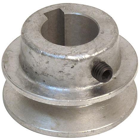 Poulie en aluminium - D. 50 x Al. 24 mm - -