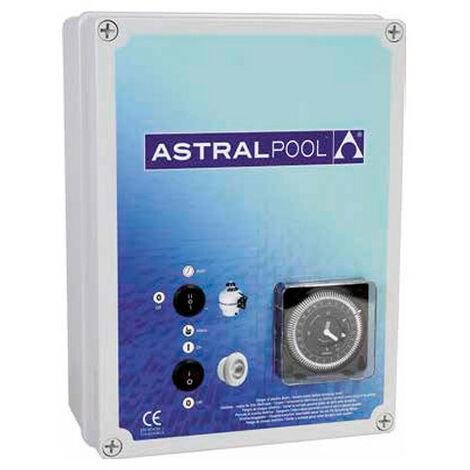 Coffret électrique pour filtration, pour 2 projecteurs 600 W avec transformateur avec disjoncteur 6 à 10 A