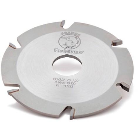 Fraise à rainer pour lamello D. 100 x Ht. 3,97 x Al. 22 mm Z : 6 HM - MFLS - FRAI0001