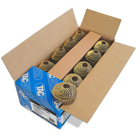 Boîte de 14 400 clous à tête ronde, annelés en rouleau D. 2,1 x 32 mm - Tacwise - 1001