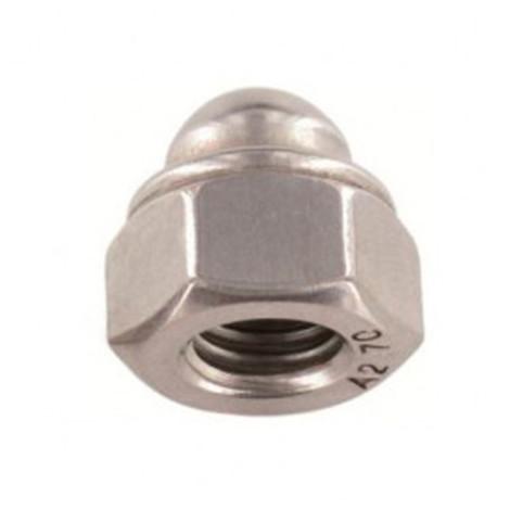 Ecrou borgne indesserrable M6 mm INOX A2 - Boite de 200 pcs - Diamwood EIND98606A2