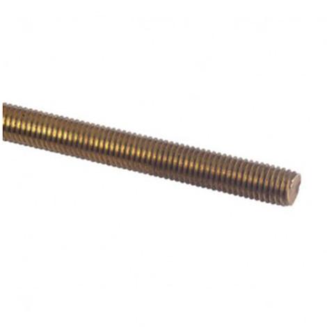 Tige filetée 1 Mètre M20 mm Laiton - 1 pc - Diamwood TF1M20LNB