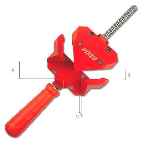 Presse d'angle pour montage en métal mâchoire 30 mm - 30003 - Piher