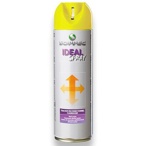 Traceur de chantier fluorescent multidirectionnel IDEAL SPRAY 500 ml de couleur Blanc - 141800 - Soppec - Blanc