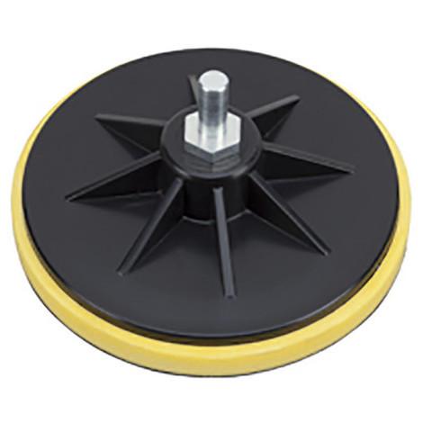 Support plateau auto-agrippant pour disque abrasif D. 150 mm Q. 10 ou M14 - 338.85 - PG Professional