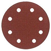 Lot de 50 disques auto-agrippant pour ponceuse orbitale D. 125 mm Gr. 80 pour bois et métal - 125.00.080 - Leman