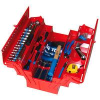 Caisse à outils complète - 59 pièces - 200 x 210 x 550 mm