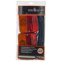 2 Feux remorque - 4 fonctions - câblés 4 500 mm - 7 Broches - XL Perform Tools