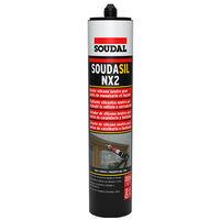 Mastic silicone neutre SNJF - SOUDASIL NX2 - Gris RAL 7016 300 ml - Joints de façade, vitrage et menuiserie - Gris