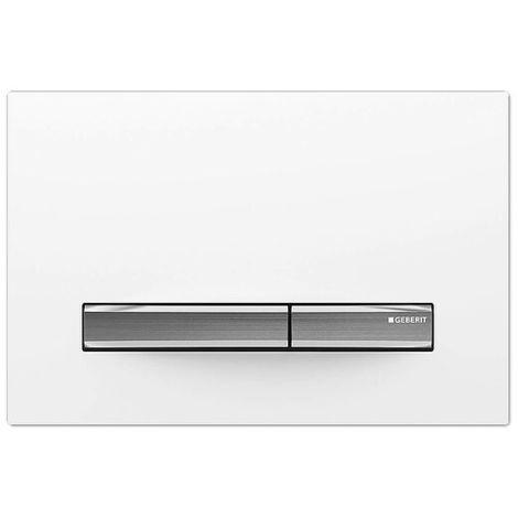 Betätigungsplatte SIGMA50 weiß/ glanz-chrom/ chrom-gebürstet, 2-Mengen-Spülung - 115788112
