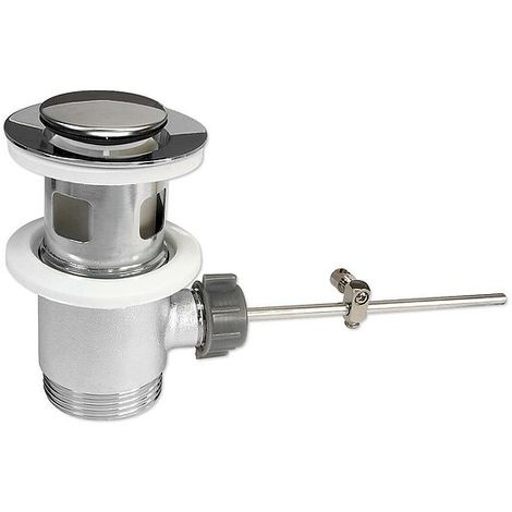 Excenter Ablaufgarnitur mit kleinem Stopfen für Waschbecken - mit Überlauf
