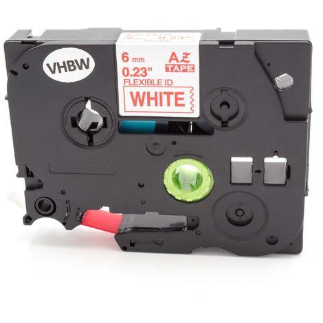 DRUCKER SCHRIFTBAND KASSETTE 6mm SCHWARZ-ORANGE für BROTHER P-Touch 1010 1080