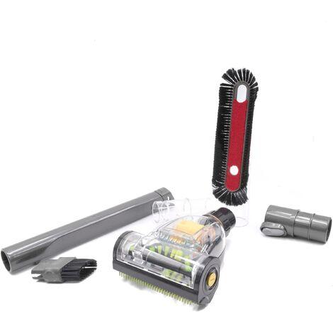 vhbw Set de accesorios para aspiradoras Dyson y aspiradoras conexión de 32mm, boquilla, cepillo, adaptador, accesorio
