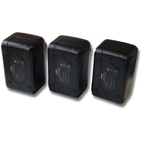 vhbw set 3x batería Li-Ion 4000mAh (28V) para herramientas Würth destornillador batería BS 28-A Combi y 4932352732.