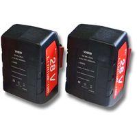 vhbw Set 2x baterías Li-Ion 2000mAh (28V) para herramientas Milwaukee HD28 SX sierra de sable a batería, etc. y 48-11-1830, 48-11-2830, 48-11-2850.