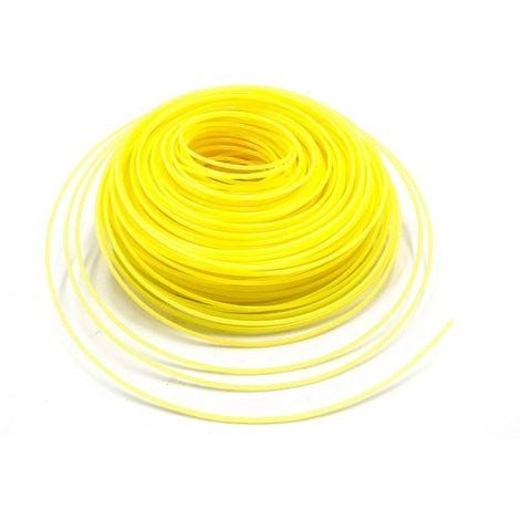 vhbw Câble de coupe 2.4mm jaune 88m pour tondeuses à gazon et débroussailleuses p.ex. Bosch, Einhell, Gardena, Husqvarna, Makita, Stihl, Wolf Garten