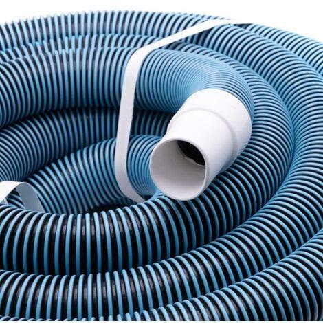 vhbw Tuyau flexible pour piscine raccord 38mm 11m pour skimmer, aspirateur, filtre - stabilisé UV, résistant au chlore