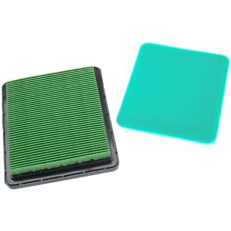 vhbw Set de filtres (1x filtre à air, 1x préfiltre) remplace Honda 17211-ZE8-000, 17211-ZL8-000, 17211-ZL8-003 pour scarificateur, tondeuse à gazon