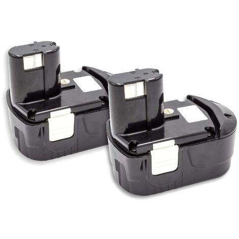 vhbw 2x Batterie NiMH 1500mAh (18V) pour outils électriques Powertools Tools Hitachi DV18DL, DV18DVC, DV18DVL, G 18DL, G 18DLX, G18DL, KC 18DA