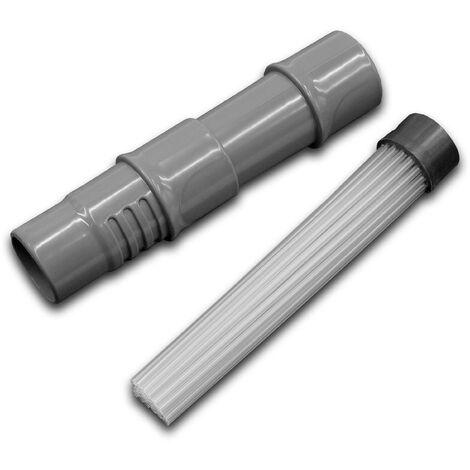 vhbw Buse d'aspirateur universelle / brosse pinceau et adaptateur compatible avec tous les aspirateurs courants