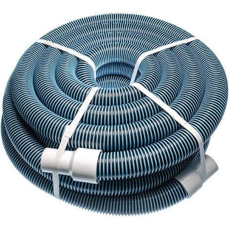vhbw Tuyau flexible pour piscine raccord 38mm m pour skimmer, aspirateur, filtre - stabilisé UV, résistant au chlore