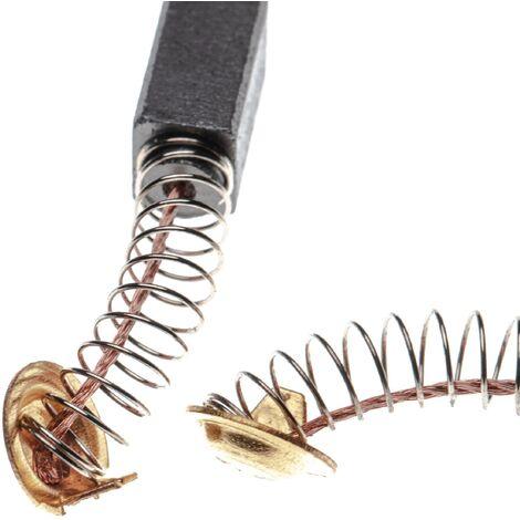 vhbw 2x balai de charbon pour moteur électrique 6,5 x 7,5 x 12,5mm compatible avec Hitachi WR14VB, WR16SA outil électrique