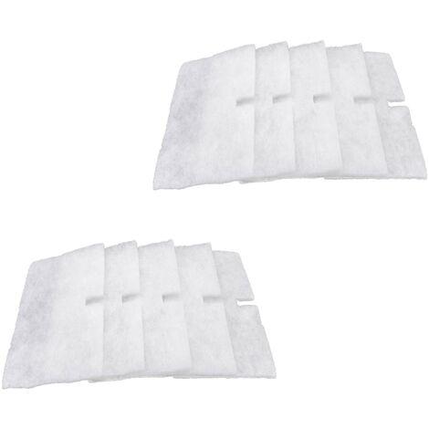 vhbw 10x filtres compatible avec Lunos ALD 36,5 passage d'air extérieur - 120 x 220 mm - remplace 9/FALD, 34703, 034 703