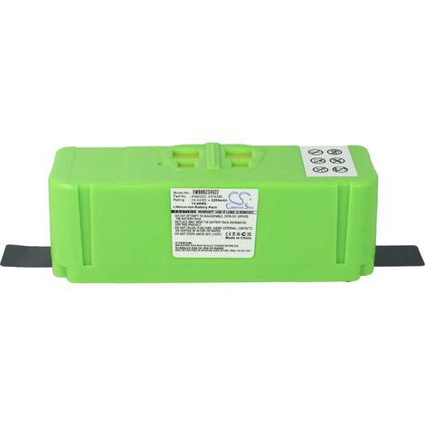 vhbw Batterie compatible avec iRobot Roomba 614, 615, 640, 652, 665, 670, 671, 675 robot électroménager (5200mAh, 14,4V, Li-ion)