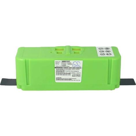vhbw Batterie compatible avec iRobot Roomba 801, 805, 850, 860, 877, 890, 891, 895 aspirateur, robot électroménager (5200mAh, 14,4V, Li-ion)