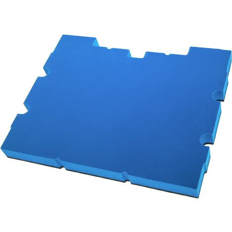 vhbw Insert en mousse compatible avec Stanley TSTAK IV FMST1-71969 caisse à outils - mousse rigide, noir-bleu, 30mm