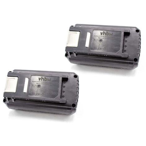 vhbw 2x Batteries Li-Ion 3000mAh (36V) compatible avec outillage électrique Ryobi RBC36X20B, RBC36X26B, RBL36B, RBL36JB, RBV36B, RCS36
