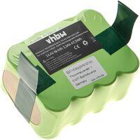 vhbw batterie NiMH 3300mAh (14.4V) pour aspirateur, Home Cleaner compatible avec Klarstein aspirateur remplace YX-Ni-MH-022144, NS3000D03X3.