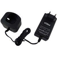 vhbw Chargeur d'alimentation 220V pour batterie d'outil Ryobi B-1415-S, B-1442T, B-8286, BCP1817/2SM, BID-1801M, BPL-1815, BPL-18151, BPL-1820
