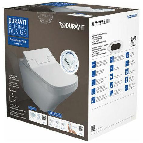 Pack WC lavant Duravit SensoWash Slim + cuvette suspendue DuraStyle
