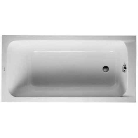Baignoire Duravit D-code 1500 x 750 mm - avec pieds - Acrylique Blanc - Blanc