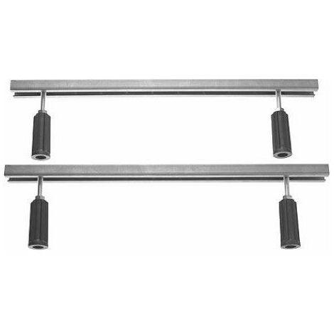 Pieds pour baignoires et receveurs D-code - longueur latérale > 1000 mm - hauteur réglable de 115 - 180 mm - blanc
