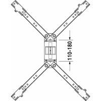 Pieds pour receveurs de douche - longueur latérale < 1000 mm - hauteur réglable 85 - 105 mm - blanc