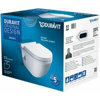 Pack WC suspendu Duravit Starck 3 420009 - cuvette + abattant frein de chute
